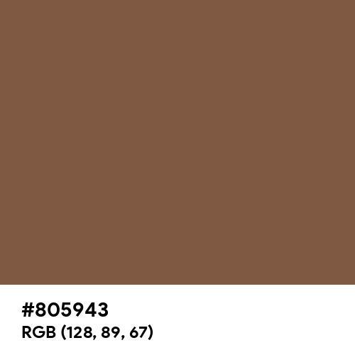 Brown (Traditional) (Hex code: 805943) Thumbnail