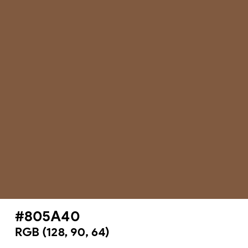 Luxury Brown (Hex code: 805A40) Thumbnail