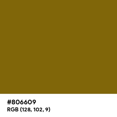 Bronze Yellow (Hex code: 806609) Thumbnail