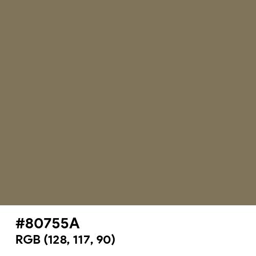 Spanish Bistre (Hex code: 80755A) Thumbnail