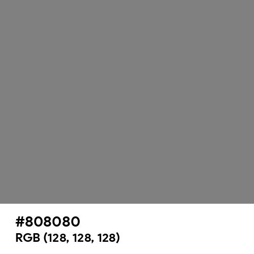 Gray (Hex code: 808080) Thumbnail