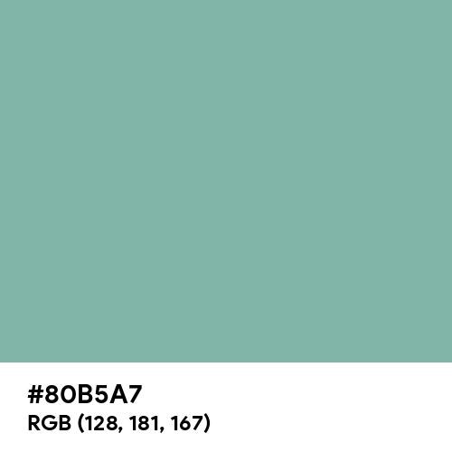 Green Sheen (Hex code: 80B5A7) Thumbnail