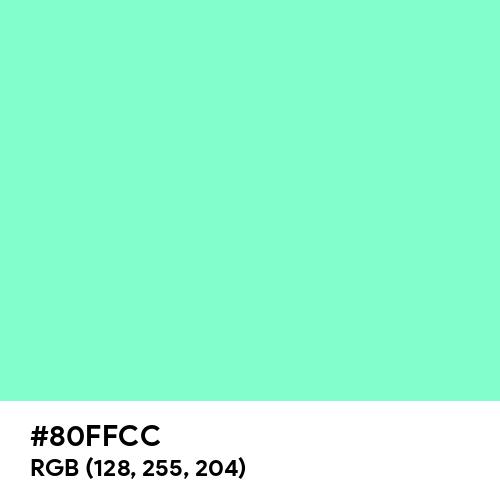 Aquamarine (Hex code: 80FFCC) Thumbnail