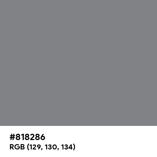 Old Silver (Hex code: 818286) Thumbnail