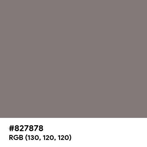 Gray (HTML/CSS Gray) (Hex code: 827878) Thumbnail