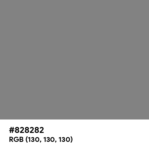 Old Silver (Hex code: 828282) Thumbnail
