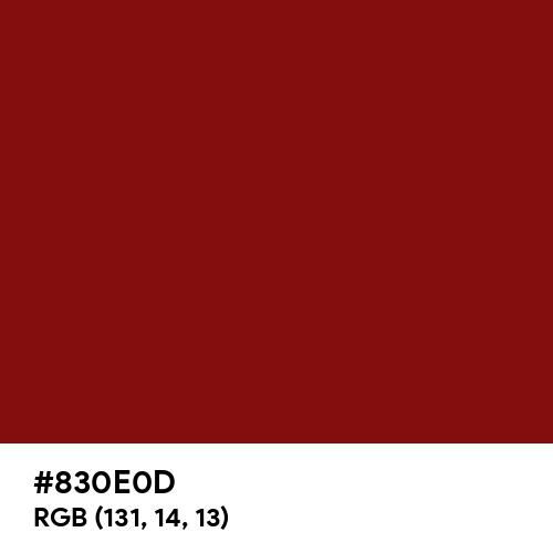 Garnet (Hex code: 830E0D) Thumbnail