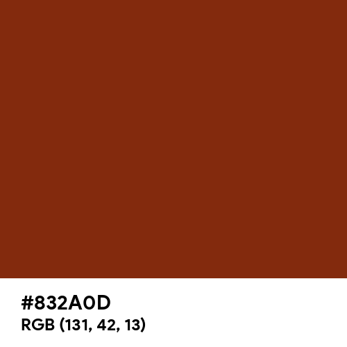 Smokey Topaz (Hex code: 832A0D) Thumbnail