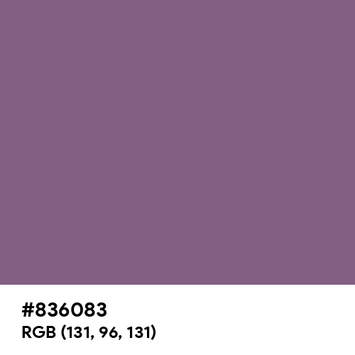 Red Lilac (RAL) (Hex code: 836083) Thumbnail