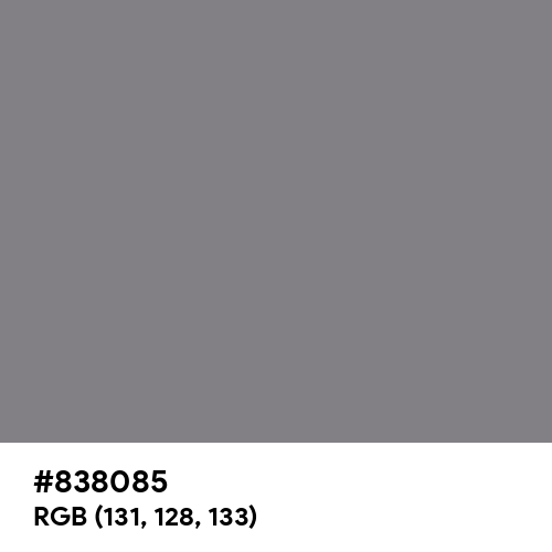 Old Silver (Hex code: 838085) Thumbnail