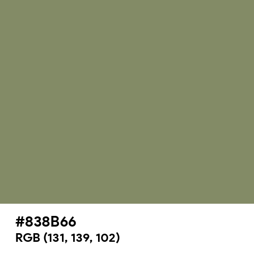 Camouflage Green (Hex code: 838B66) Thumbnail