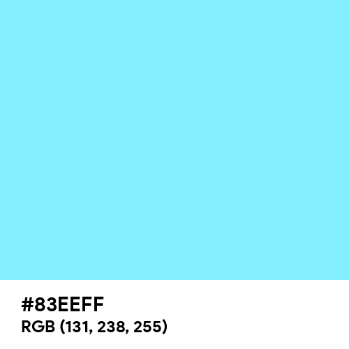 Neon Light Blue (Hex code: 83EEFF) Thumbnail