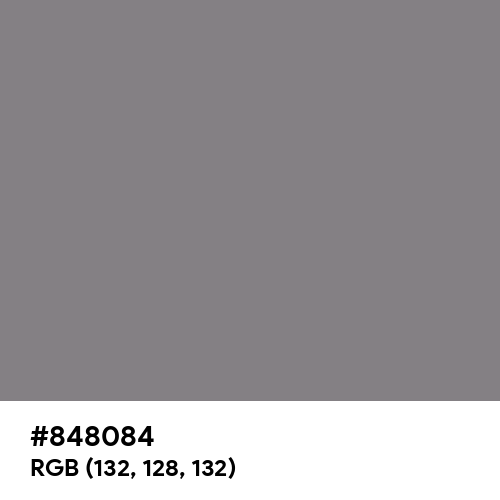 Old Silver (Hex code: 848084) Thumbnail