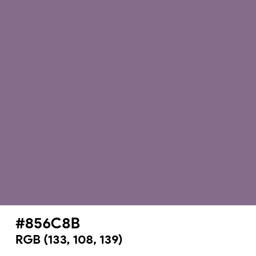Chinese Violet (Hex code: 856C8B) Thumbnail