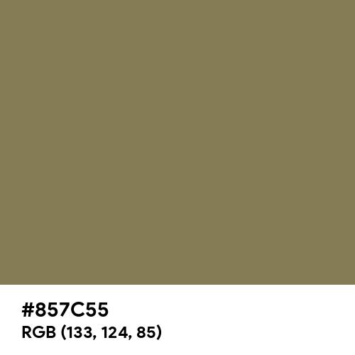 梅幸茶 (Baikōcha) (Hex code: 857C55) Thumbnail