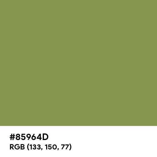 Moss Green (Hex code: 85964D) Thumbnail