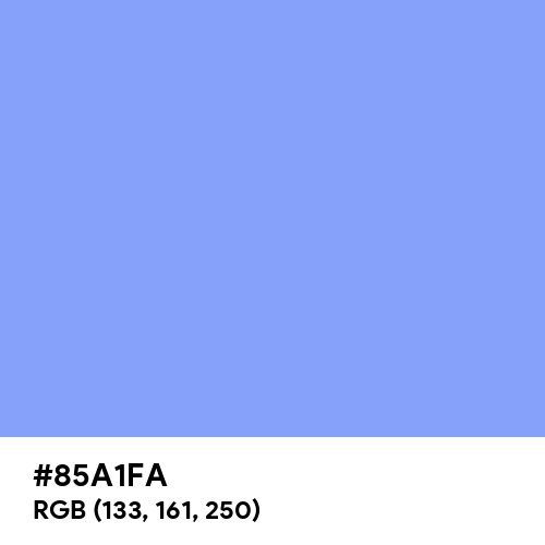 French Sky Blue (Hex code: 85A1FA) Thumbnail
