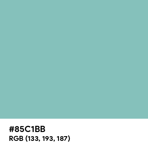 Muted Turquoise (Hex code: 85C1BB) Thumbnail