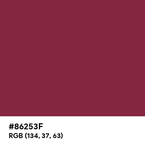 Burgundy CMYK (Hex code: 86253F) Thumbnail