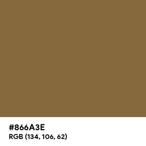 Green Brown (RAL) (Hex code: 866A3E) Thumbnail