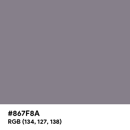 Taupe Gray (Hex code: 867F8A) Thumbnail