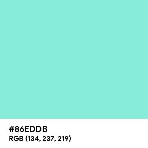 Aquamarine (Hex code: 86EDDB) Thumbnail