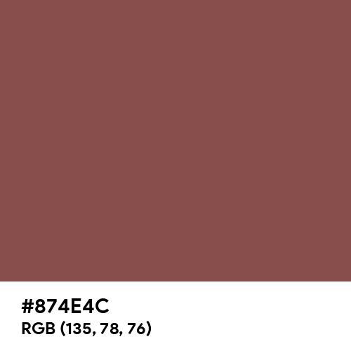 Tuscan Red (Hex code: 874E4C) Thumbnail