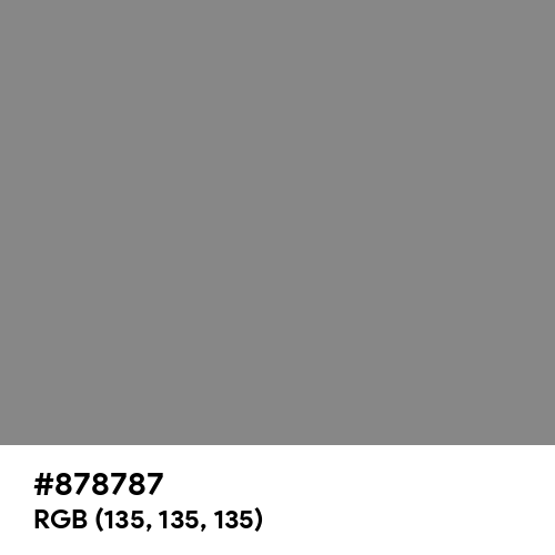 Taupe Gray (Hex code: 878787) Thumbnail