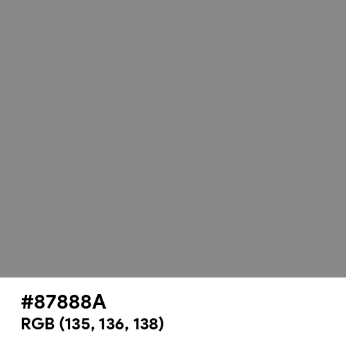 Taupe Gray (Hex code: 87888A) Thumbnail