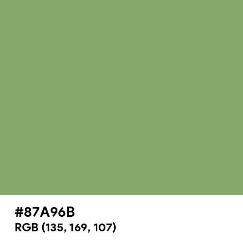 Asparagus Color Hex Code Is 87a96b