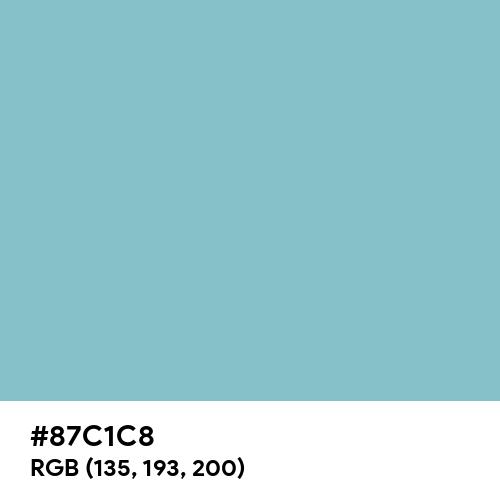 Dark Sky Blue (Hex code: 87C1C8) Thumbnail