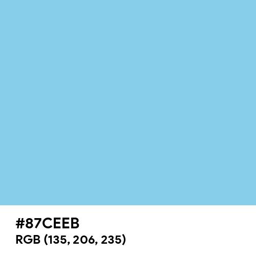 Sky Blue (Hex code: 87CEEB) Thumbnail