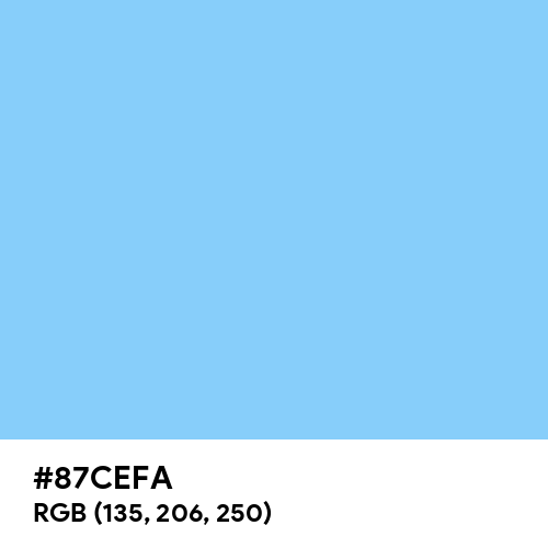 Light Sky Blue color hex code is #87CEFA
