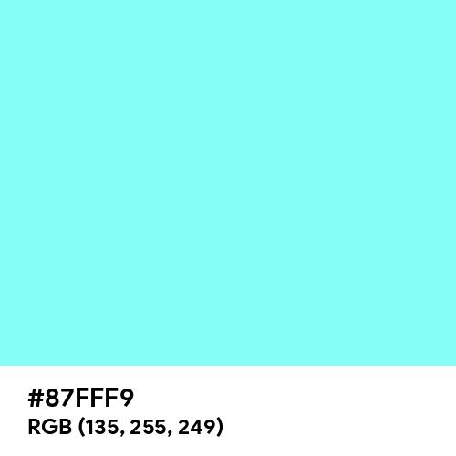 Electric Blue (Hex code: 87FFF9) Thumbnail