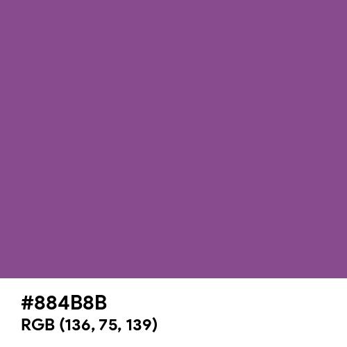 Razzmic Berry (Hex code: 884B8B) Thumbnail