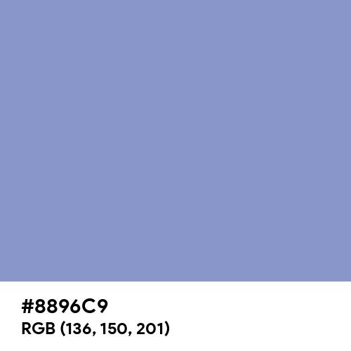 Ceil (Hex code: 8896C9) Thumbnail