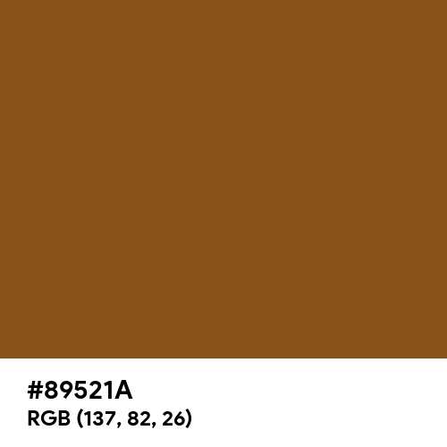 Camouflage Orange (Hex code: 89521A) Thumbnail
