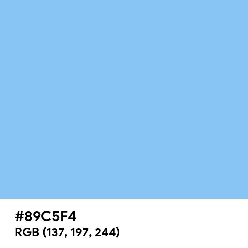 Baby Blue (Hex code: 89C5F4) Thumbnail
