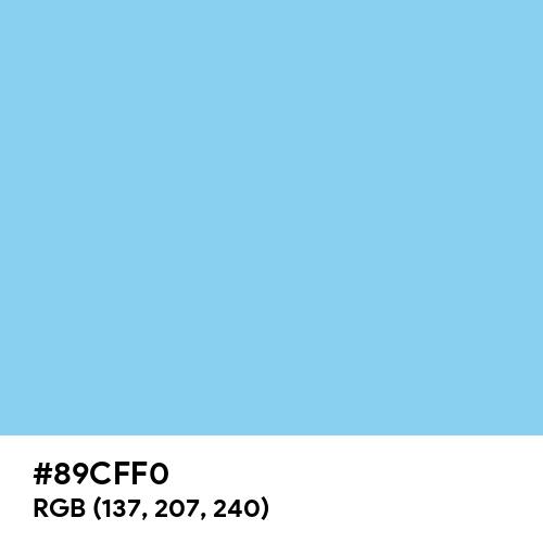 Baby Blue (Hex code: 89CFF0) Thumbnail