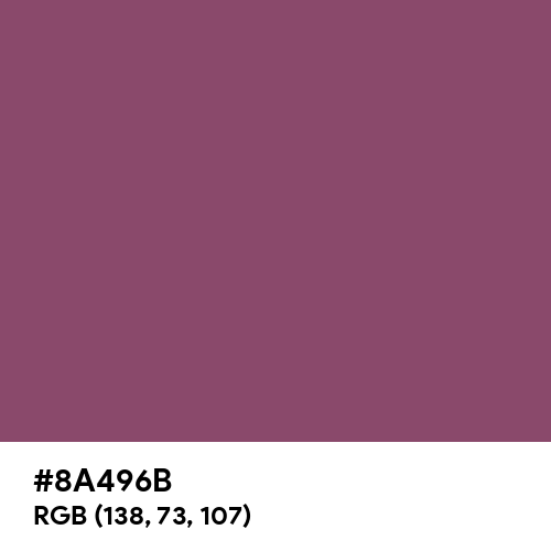 Twilight Lavender (Hex code: 8A496B) Thumbnail