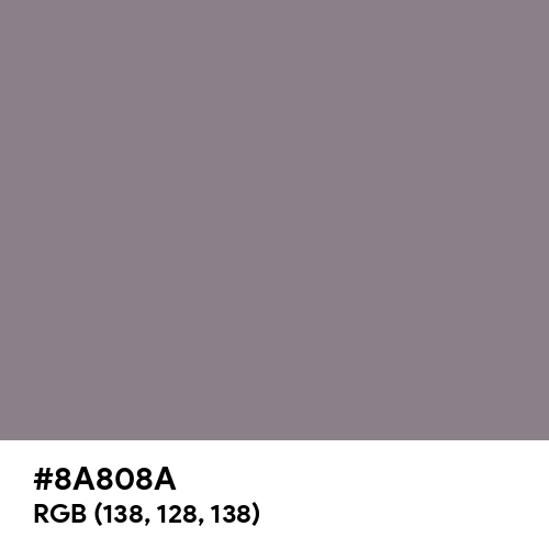 Taupe Gray (Hex code: 8A808A) Thumbnail