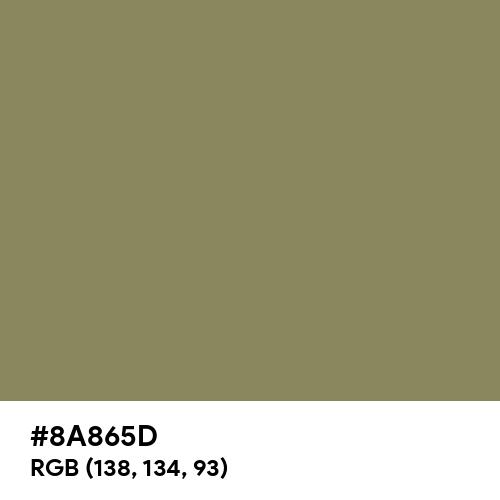 Khaki Green (Hex code: 8A865D) Thumbnail