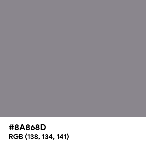 Taupe Gray (Hex code: 8A868D) Thumbnail