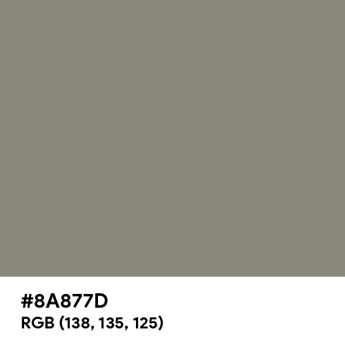 Middle Grey (Hex code: 8A877D) Thumbnail