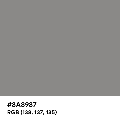 Taupe Gray (Hex code: 8A8987) Thumbnail