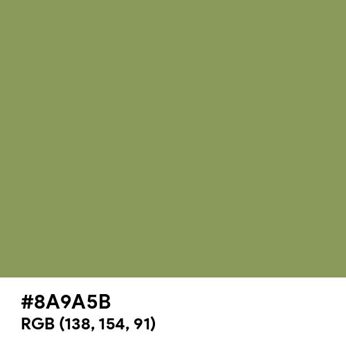 Moss Green (Hex code: 8A9A5B) Thumbnail