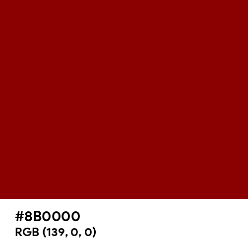 Dark Red (Hex code: 8B0000) Thumbnail