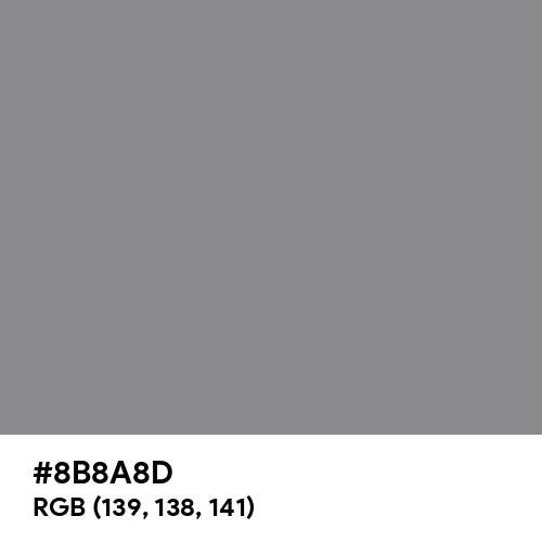 Philippine Gray (Hex code: 8B8A8D) Thumbnail