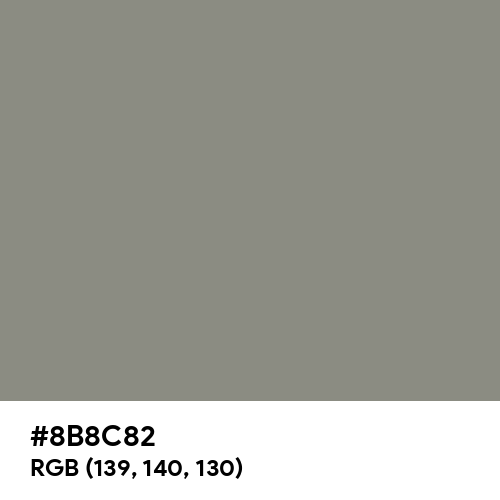 Middle Grey (Hex code: 8B8C82) Thumbnail