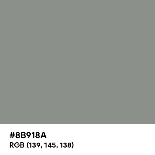 Camouflage Green (RAL Design) (Hex code: 8B918A) Thumbnail